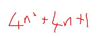 Algebraic proof equation Equation 4n